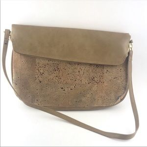 Vintage Lisette Cork Leather Shoulder Bag